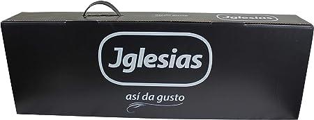 IGLESIAS -  Paleta Cebo Ibérica 50% Raza Ibérica de 4,8 a 5kg + Jamonero de Regalo en Caja Negra de Regalo