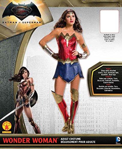 Secret Wishes Women's Batman V Superman: Dawn of Justice Deluxe Wonder Woman Costume, Multi, X-Small