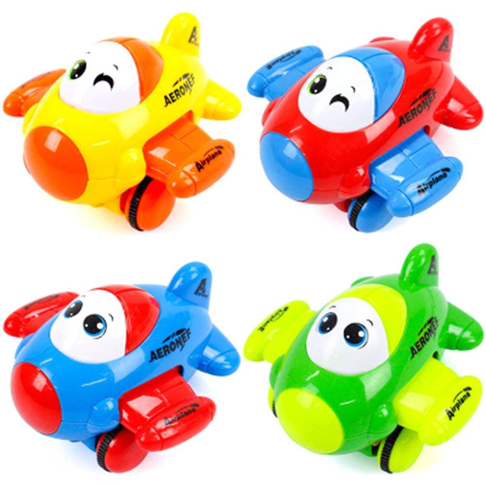 cianowegy 2pcs Pull Back Vehicles Cartoon Mini Car /平面慣性おもちゃセットFriction Powered Gifts for Kids Toddlers (カラーランダム) B07BSGPDFF