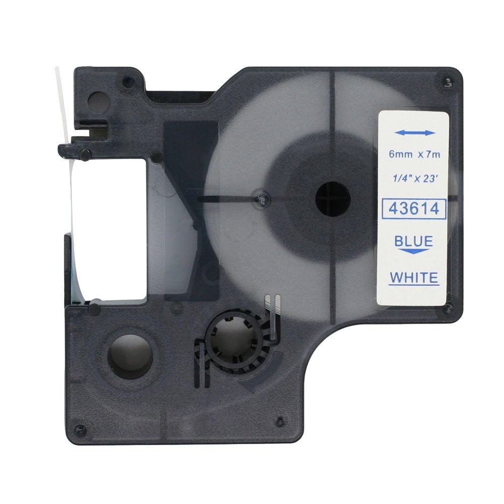 fassport 1/Pack Negro sobre transparente cinta de etiquetas compatible con Dymo D1/43610/6/mm 1//4/ color Black on Gold