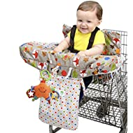 Jeep 2-in-1 Shopping Cart Cover High Chair Cover, High...