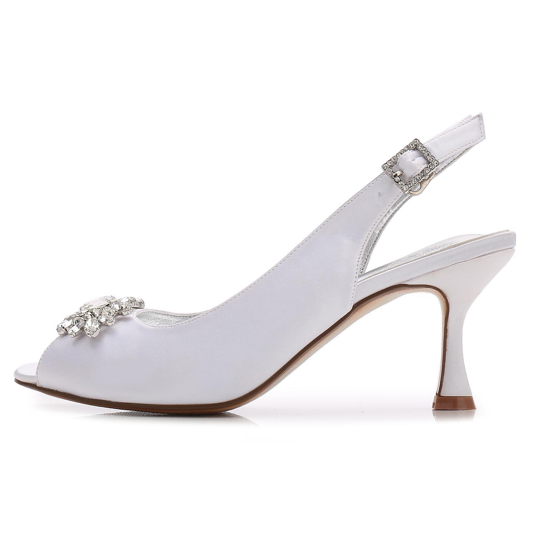 Elegant High Damen Schuhe Damen Hochzeitsschuhe E17061 58 Strass Mit