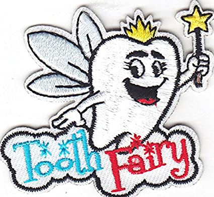 Amazoncom Tooth Fairy Iron On Embroidered Patch Children