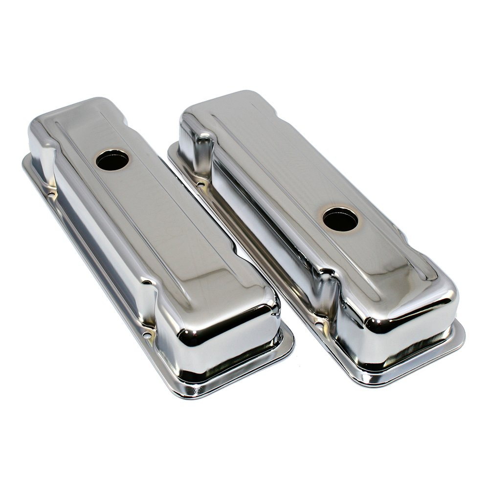 Assault Racing Products A9039 Chevy 229ci V6 Chrome Steel Valve Covers GM Malibu Monte Carlo Camaro