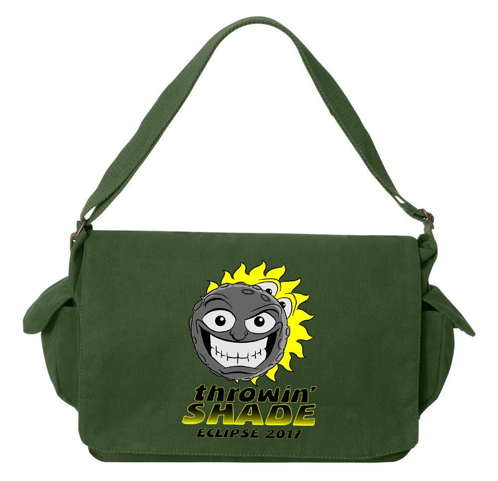 Tenacitee Eclipse Throwin Shade Green Brushed Canvas Messenger Bag