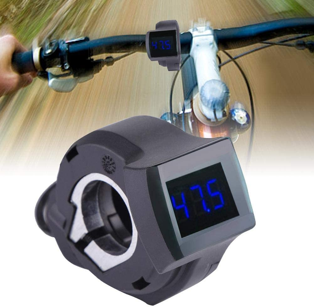 Yosoo Health Gear Electric Bike Voltage Display E-Bike Scooter Thumb Throttle Assembly with LCD Battery Voltage Display