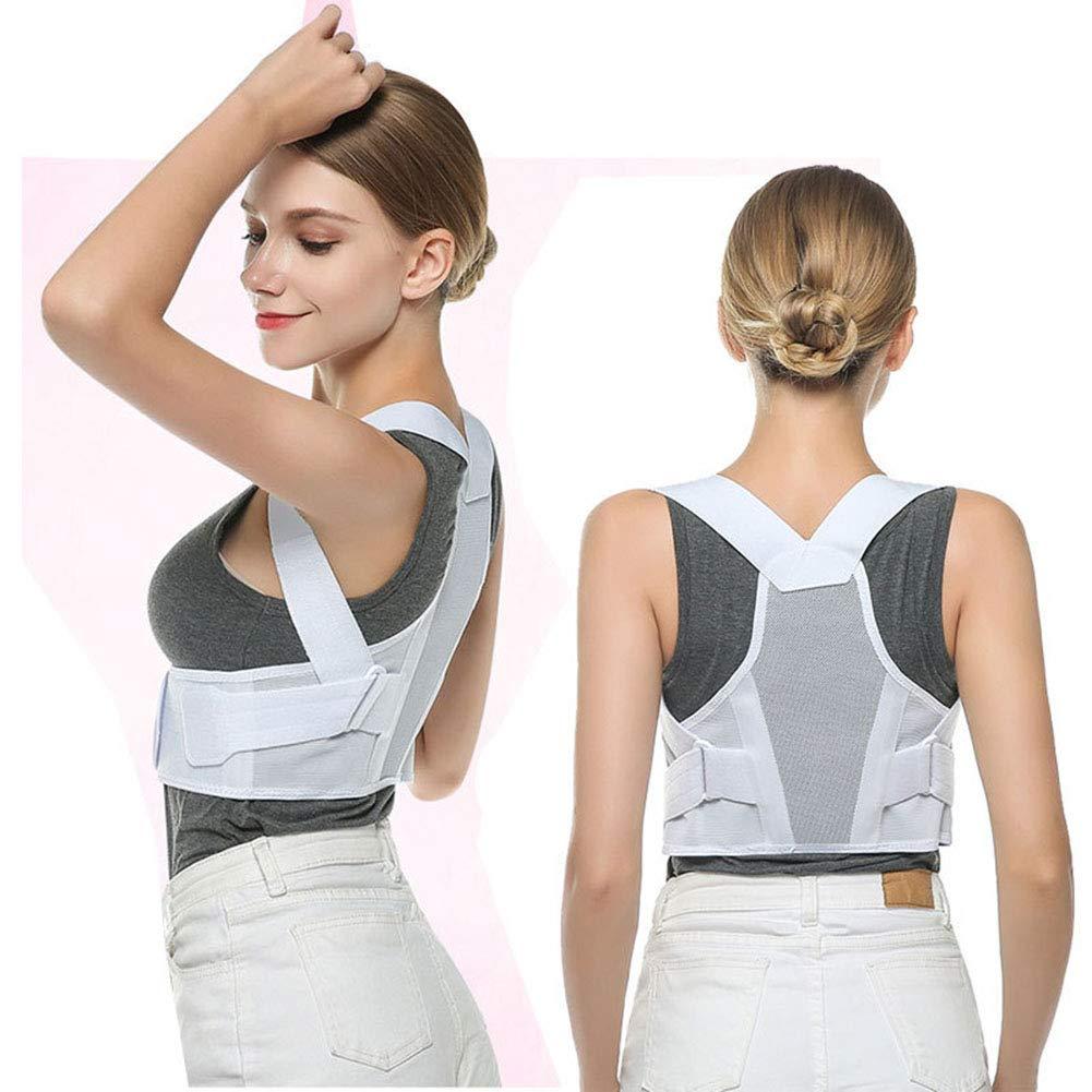 Qwer Anti-Humpback Correction Belt Posture Correction Clothing Student Adult Male and Female Breathable Spine Correction Back Correction,XS