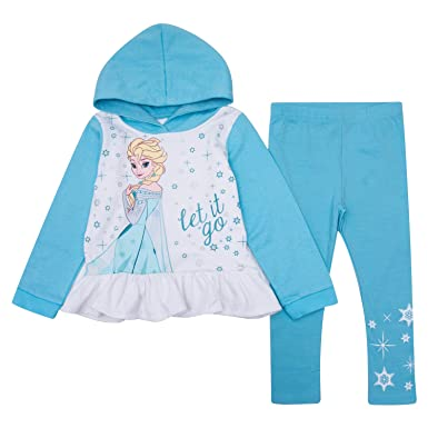 8cb33e6defa9d Disney Toddler Girls Frozen Jogger Set Frozen Hoodie & Sweatpants Set  Featuring Elsa & Anna (