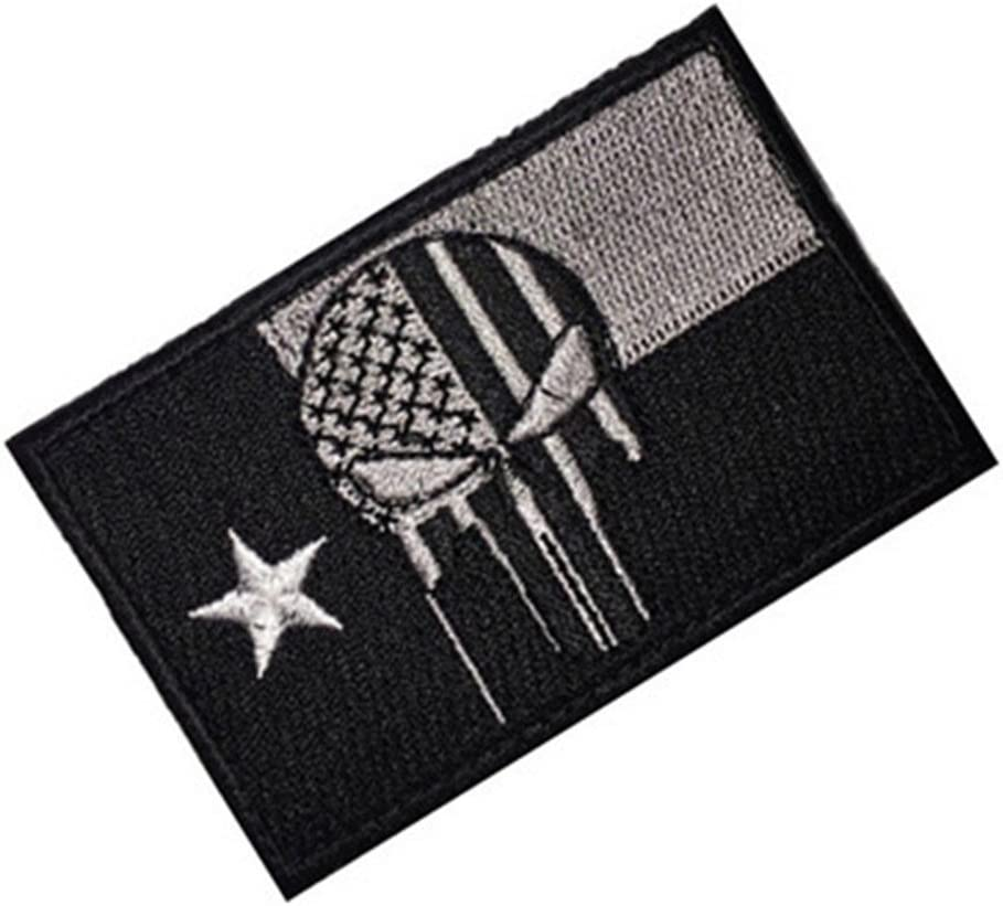 Parche Bordado Aquiver Tactical Gear Junkie Texas Estado Bandera y Punisher Calavera Insignia Pegatina (Color 3): Amazon.es: Juguetes y juegos