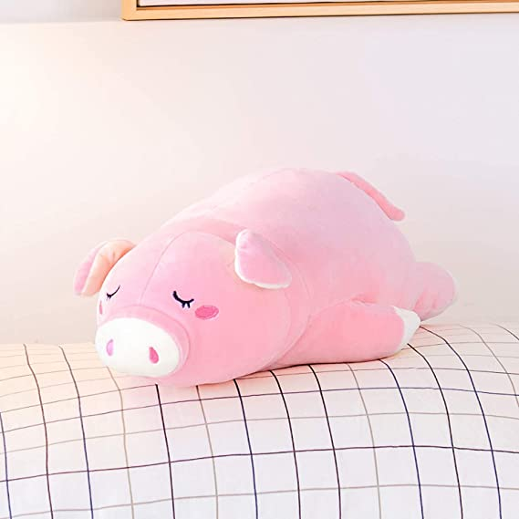 Round Pillow pig-11.8inch Nbeebro Soft Bubble Pig Stuffed Animals Toys for Kids Boys Girls Birthday Xmas Gift