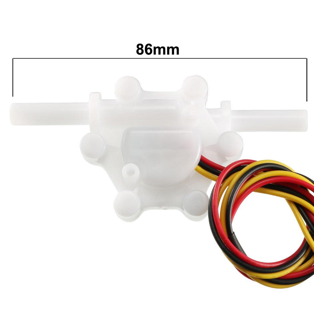 sourcing map Halleffekt Wasser Schalter Durchflussmesser DC5V 0.15-1.5L// min SEN-HZ06K DE de