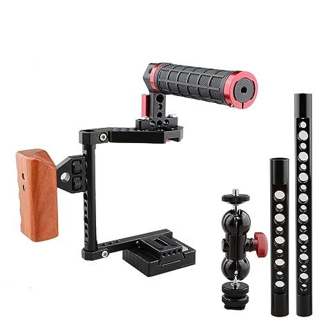 CAMVATE Kit de jaula de cámara DSLR para cámaras Canon 600d ...