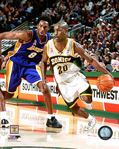 (Gary Payton & Kobe Bryant NBA Action Photo (8