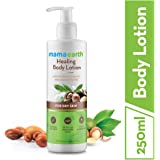 Mamaearth Healing Natural Body Lotion with Argan Oil & Macadamia Nut for Women & Men with Dry Skin for All Seasons