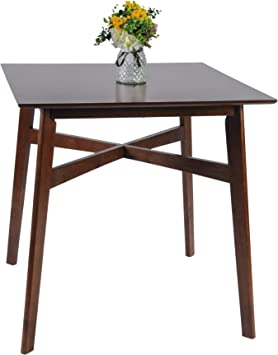 Amazon Com Luckyermore Dining Room Table Wood Leg 36 High Top