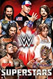 WWE Superstars - Wrestling Poster/Print (The Rock, John Cena, Roman Reigns.) (Size: 24 inches x 36 inches)