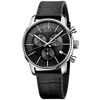 2fabcc271 Amazon.com: Calvin Klein Men's City Watch - K2G271C3 Cool Grey/Black ...