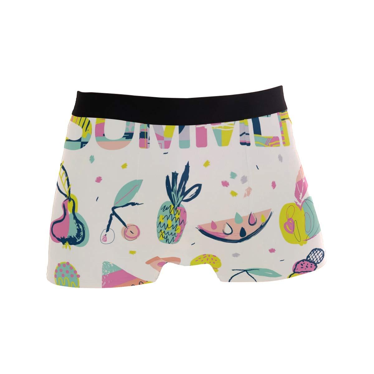 Mkuell Dinosaur Comfortable Mens Boxer Briefs Multi-Size Soft Underwear S