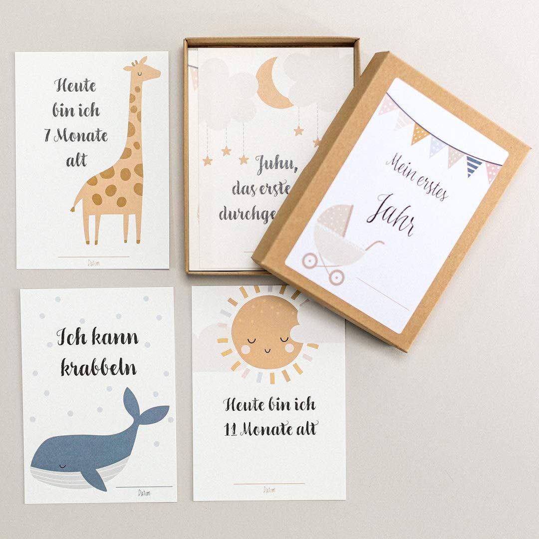 Familiensache Baby Meilensteinkarten (für Jungen & Mädchen)