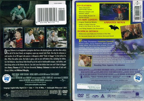 Cloak & Dagger and The Little Vampire - 2 Seperate DVDs- Kids Action & Adventure Set