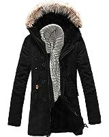 Simple Flavor メンズ 秋 冬 ダウンコート ロング コート 中綿入り ジャケット 厚手 コート