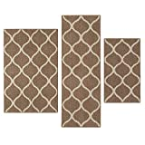 Kitchen Rugs Set, Maples Rugs [Made in USA][Rebecca] 3 Piece Sets Non Slip Padded Small Area Rugs...
