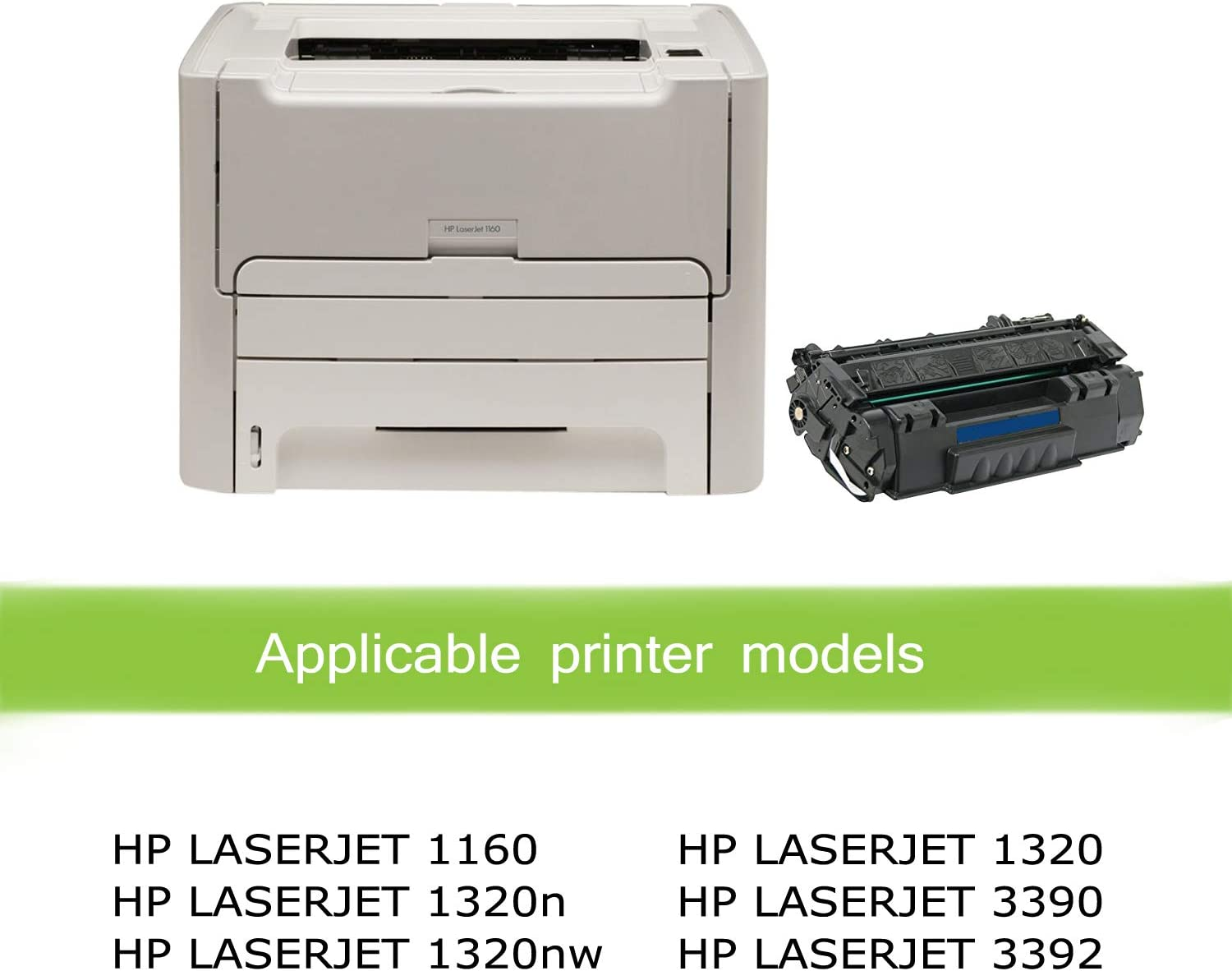 1320 1320tn Awesometoner Compatible Toner Cartridge Replacement for HP Q5949A MICR use with Laserjet 1160 Black, 3-Pack 3392 3390 1320nw 1320n