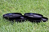 Cheap TopoLite 10.5″ 12″ Round Black Plastic Plant Saucer Pack of 6 12 24 48 Units Hydroponic Growing System Accessories (12″/24PCS)