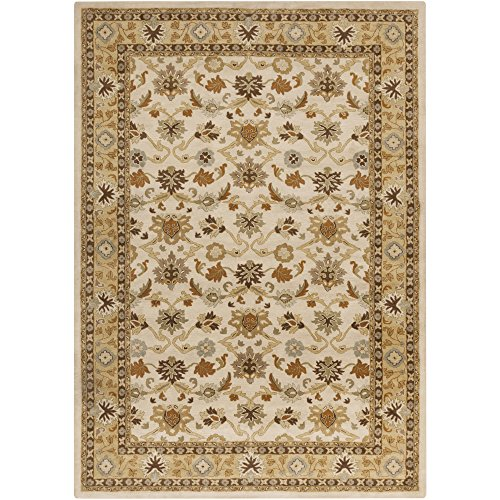 Surya CAE-1010 Caesar Beige 2-Feet by 4-Feet Hearth Area Rug
