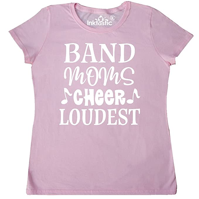 b315ba71e9 inktastic - Marching Band Mom Funny Music Gift Women's T-Shirt Small Pink  2c875