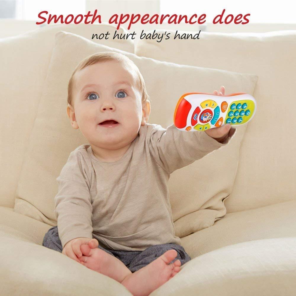 Klicken /& z/ählen Remote Spielzeug f/ür EIN Jahr alt Jungen und M/ädchen VATOS Baby Fernbedienung Spielzeug Lernen Lichter Fernbedienung f/ür Baby 6 Monate nur Englische Aussprache