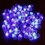 50 pcs/lot Blue LED Lamps Balloon Lights for Paper Lantern BalloonChristmas Party Decoration