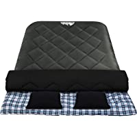 Weisshorn Sleeping Bag Single/Double Camping Sleep Outdoor Gear Moisture-Proof Portable Lightweight for Camp Caranvan…