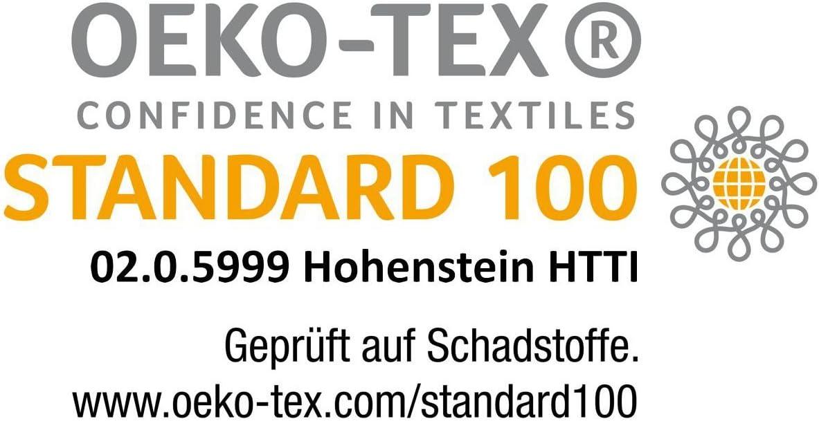 diverse misure 140x200cm guarnizione /Öko-Tex coprimaterasso in microfibra anche Coprimaterasso Gr/äfenstayn/® soft topper con speciale imbottitura in fibra climatica