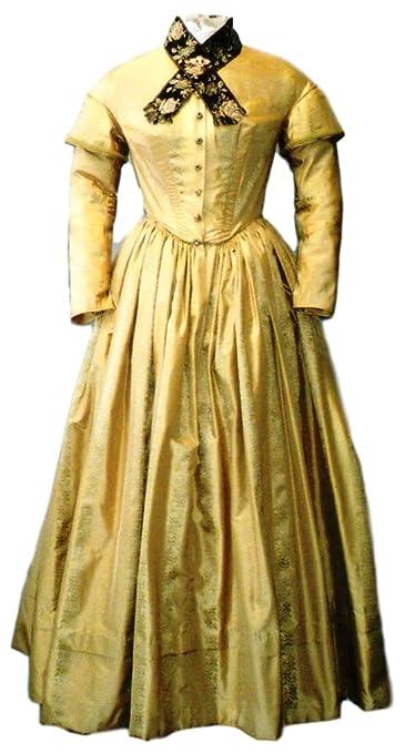 Steampunk Sewing Patterns- Dresses, Coats, Plus Sizes, Men's Patterns 1840-1852 Dress Pattern $18.00 AT vintagedancer.com