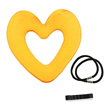 Hair Donut - Accesorio para hacer moños con forma de corazón, esponja mágica