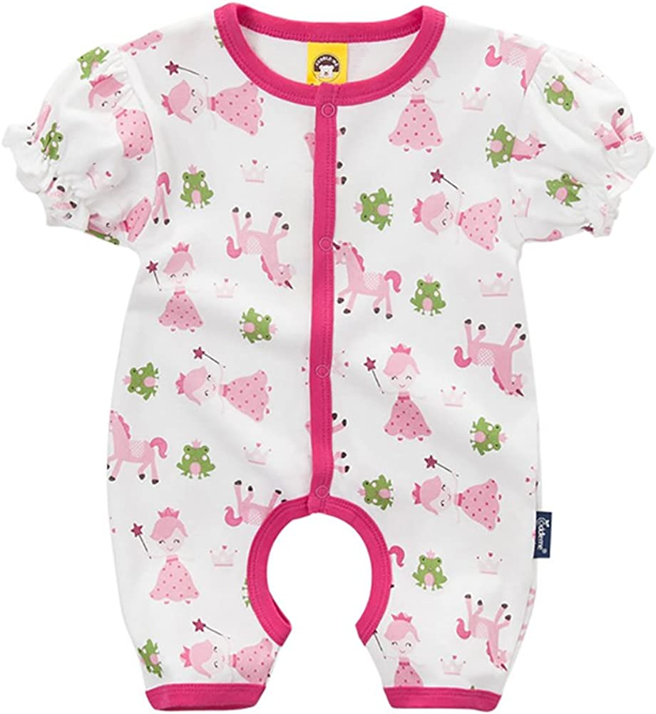Cuddle me 4 Pieces Cartoon Short Sleeve Bodysuit for Baby Boys Girls 100 /% Cotton