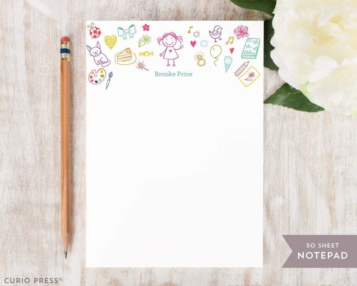 KID'S STUFF NOTEPAD - Personalized Childrens Stationery/Stationary Note Pad