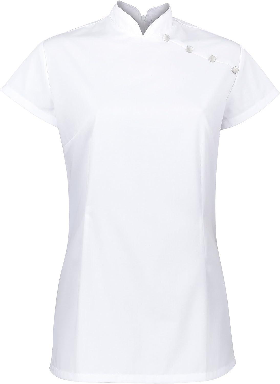 Alexandra Womens Stand Collar Beauty Tunic//Health Beauty /& Spa//Workwear