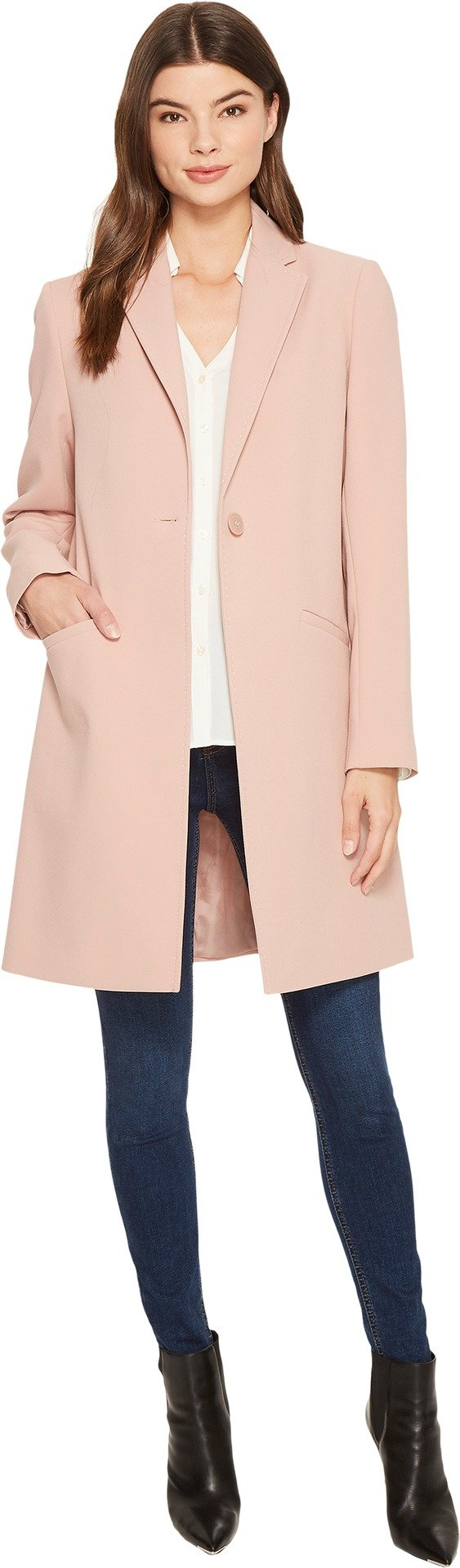 Lauren by Ralph Lauren Women's Crepe Reefer Blush Large