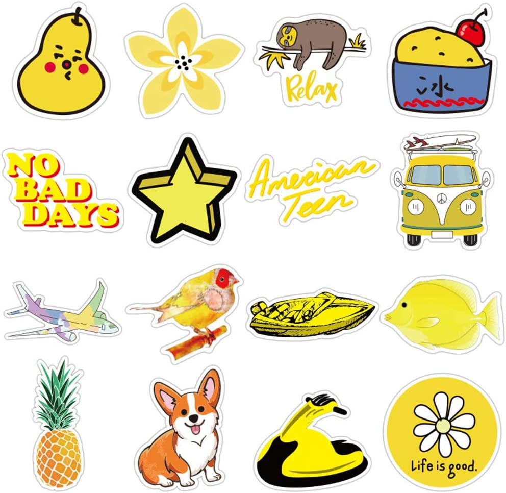 Stickers for Water Bottles bluesees 70pcs Vsco Stickers Waterproof Sticker Decals Vinyls for Laptop,Cars,Bicycle,Skateboard Luggage Guitar,Phone Stickers,Cute Aesthetics Stickers for Teens Girls