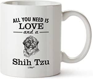 Shih Tzu Mom Gifts Mug For Christmas Women Men Dad Decor Lover Decorations Stuff I Love Shih Tzu Coffee Accessories Talking Art Apparel Funny Birthday Gift Home Supplies Products Dog Coffee Cup Mugs
