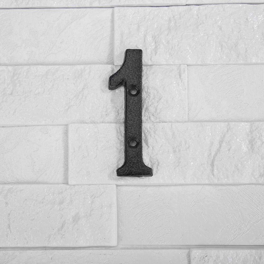 Numero Puerta Casa Decoraci/ón de la Pared del Caf/é de DIY Everpert Placa de la Puerta de la Muestra de la Casa del Hierro Fundido de los N/úmeros Digitales del Metal