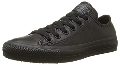 Converse Men's Chuck Taylor All Star Ox Leather Black Mono (9.5, Black Mono)