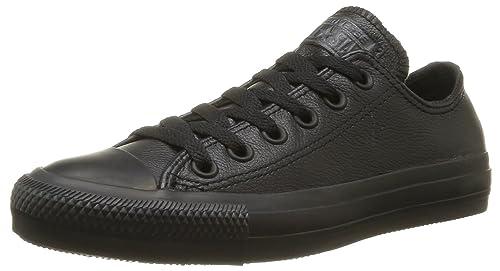Converse Unisex Chuck Taylor All Star Leather Black Mono (9UK Men/ 42.5EUR)