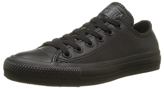all black converse leather
