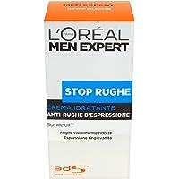 L'Oréal Paris Men Expert Crema Idratante Stop Rughe Anti-Rughe d'Espressione, Arricchito con Boswelox, 50 ml