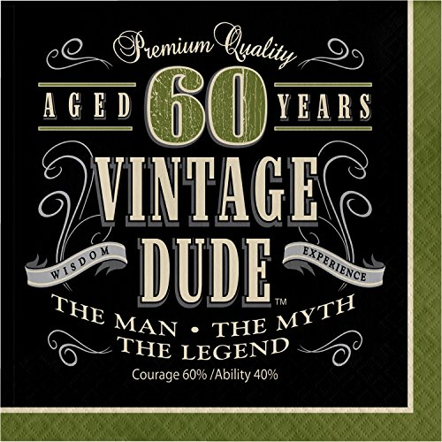 60th Birthday Napkins (Vintage Dude 60th Birthday Napkins, 48)