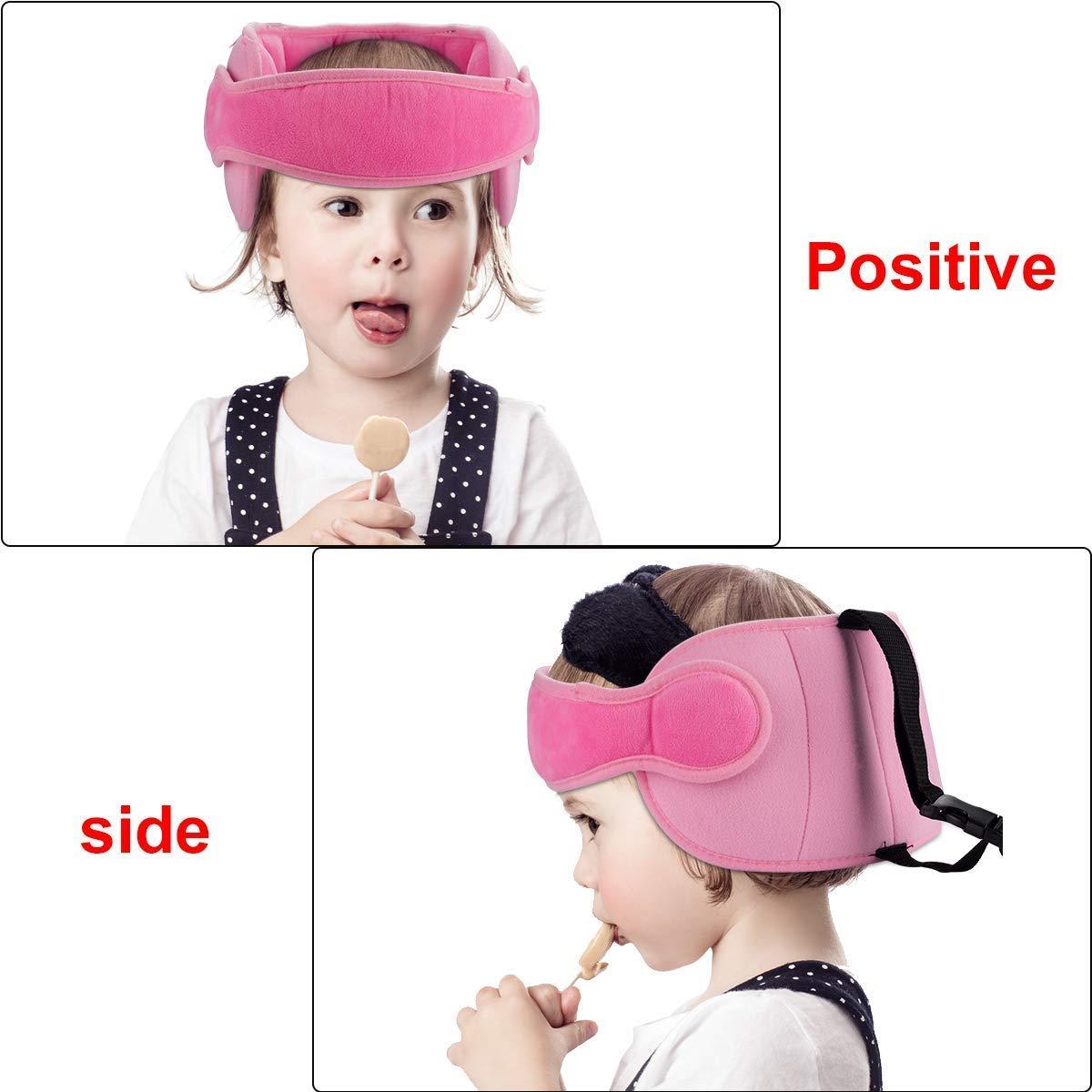 MGDAM Correa de soporte para la cabeza y el cuello del asiento de coche para beb/é Azul localizador de sue/ño de seguridad para el cuello y seguridad para ni/ños ajustable