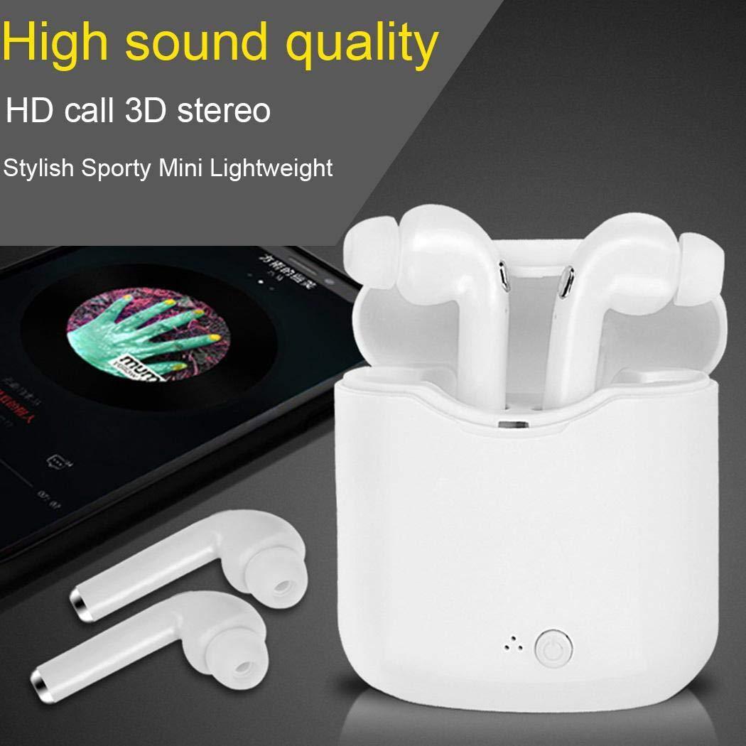 LIOPIO Auriculares Inalámbricos Bluetooth, música Estéreo, Mini Auriculares para Móviles con Cargador de Caja Auriculares y Cargadores suplementarios